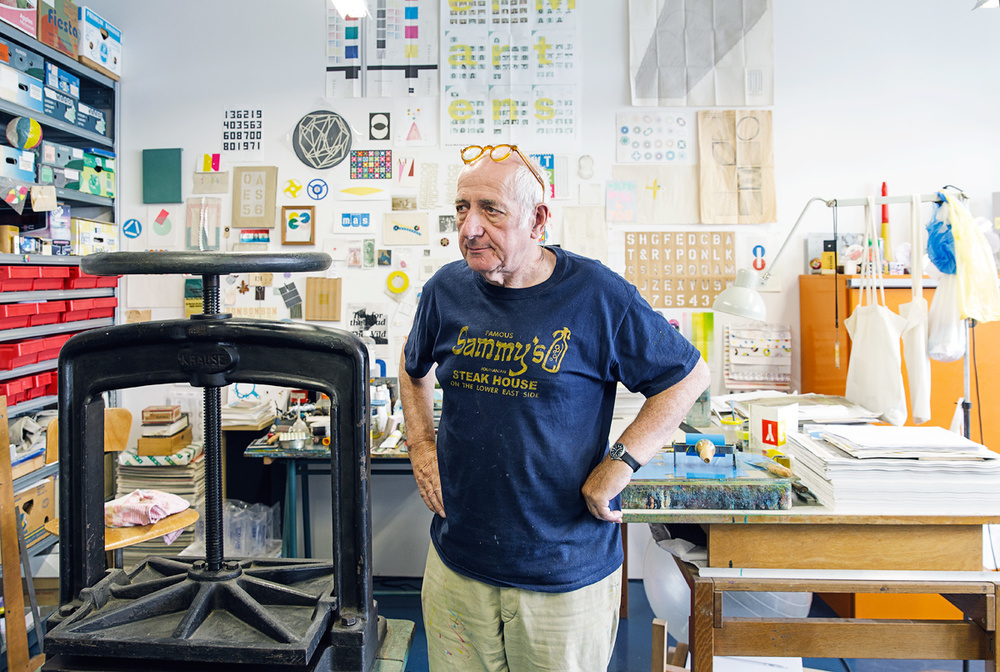 Karel Martens in his studio in Amsterdam.