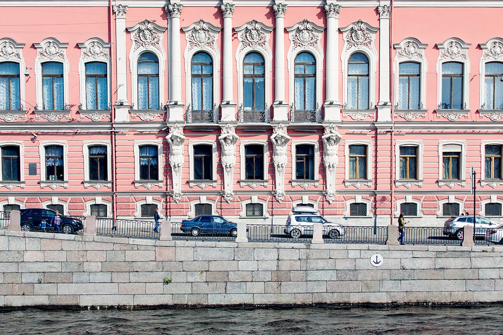 Beloselskikh palace on Fontanka river.