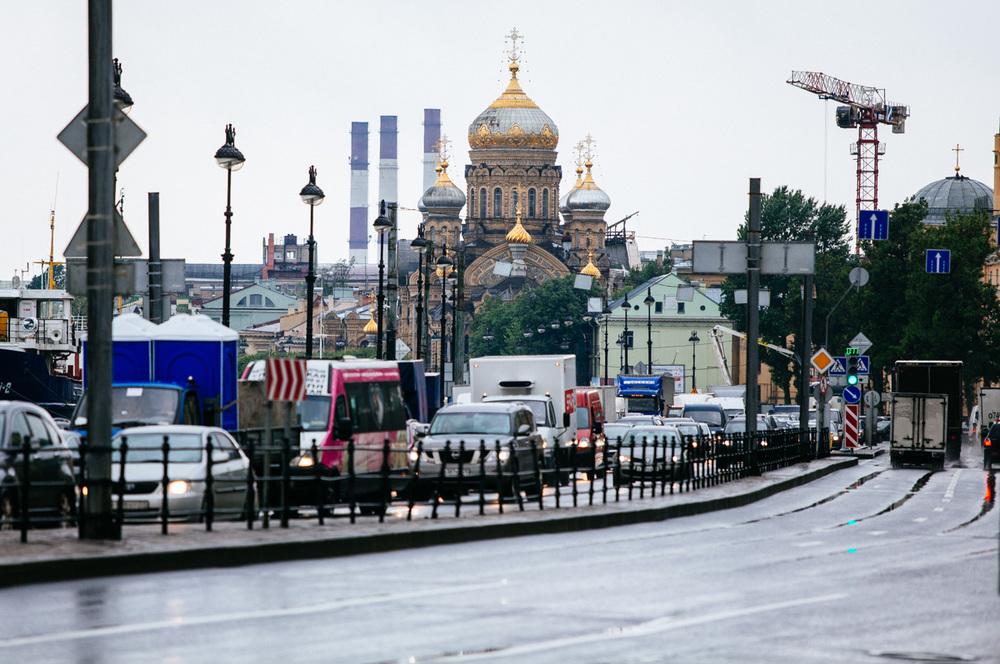 Universitetskaya Embankment on Vasilyevskiy Island