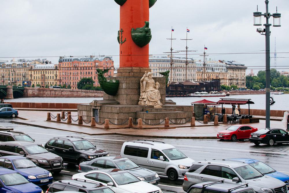 Rostral column on Vasilyevskiy Island