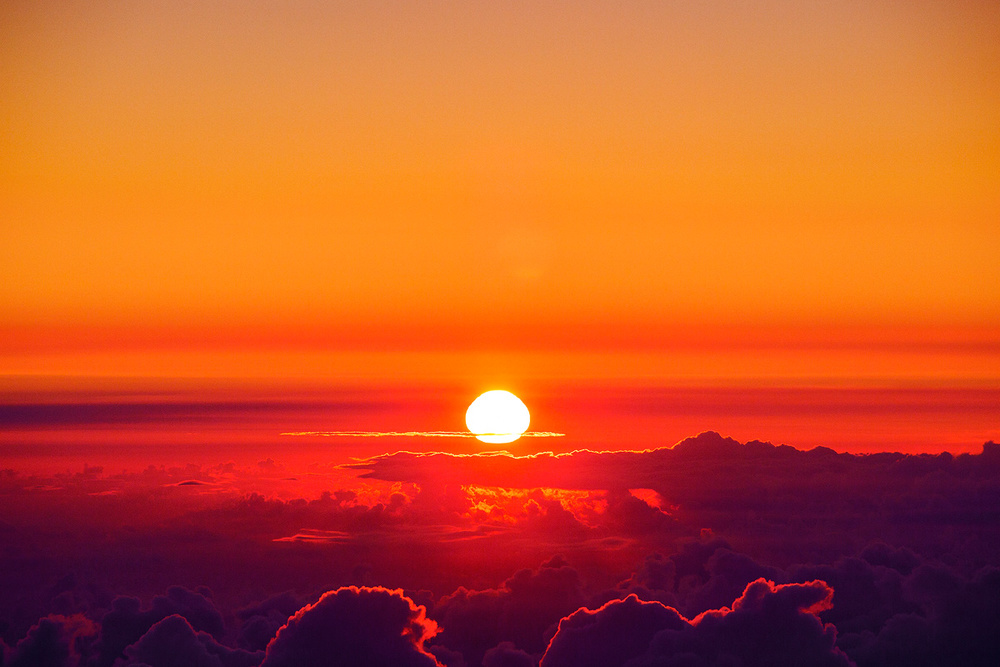 Sunrise over Haleakala crater