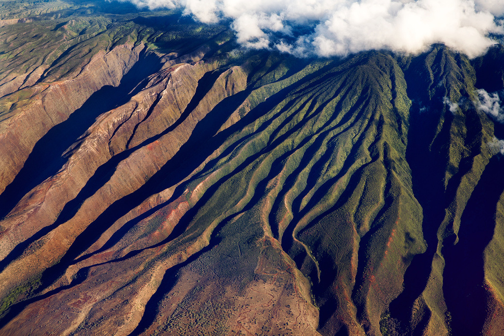 View of Molokai Island form the plane