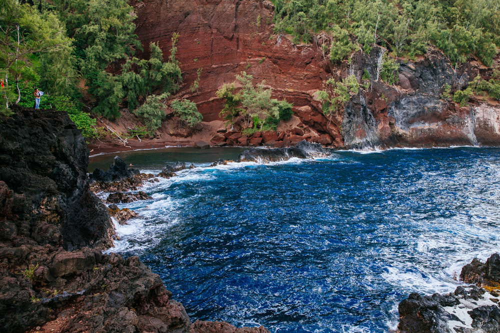 Red Beach in Hana, Maui.