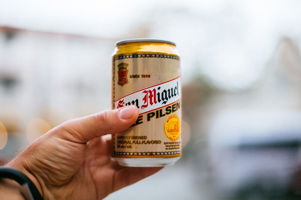 Can easily be mistaken for a Spanish Beer. San Miguel is the largest Philippines' brewery.