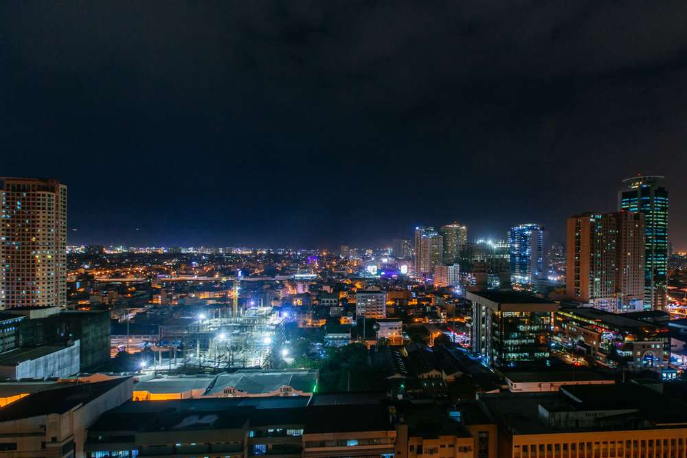 Makati district at night