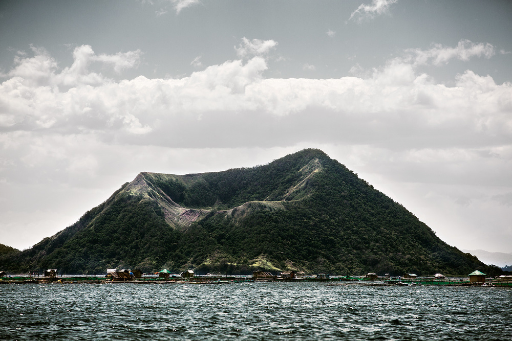 Binintiang Malaki  (Big Leg) view from the waters of Taal Lake.