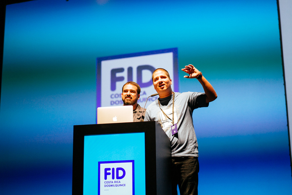 Organizers of FID conference. Alfredo Enciso and Paco Cervilla.