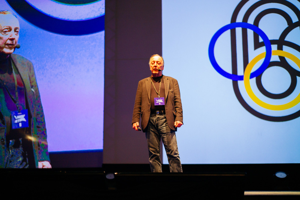 I think this was the most amazing presentation by Lance Wyman