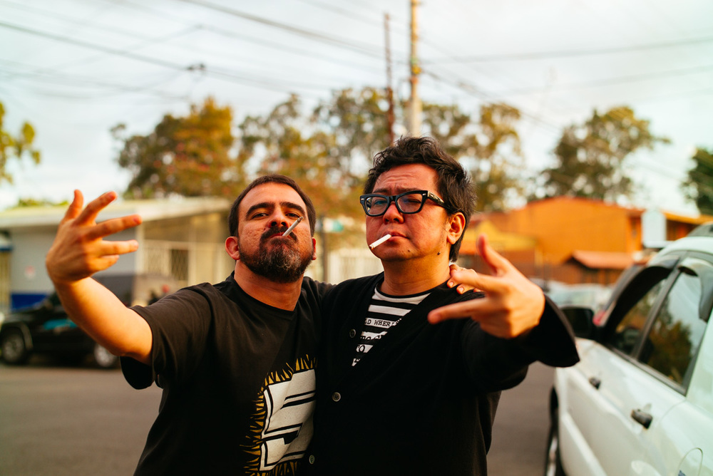 FID organizer Paco Cervilla and super awesome Morihiro Harano getting ready for a rap cover