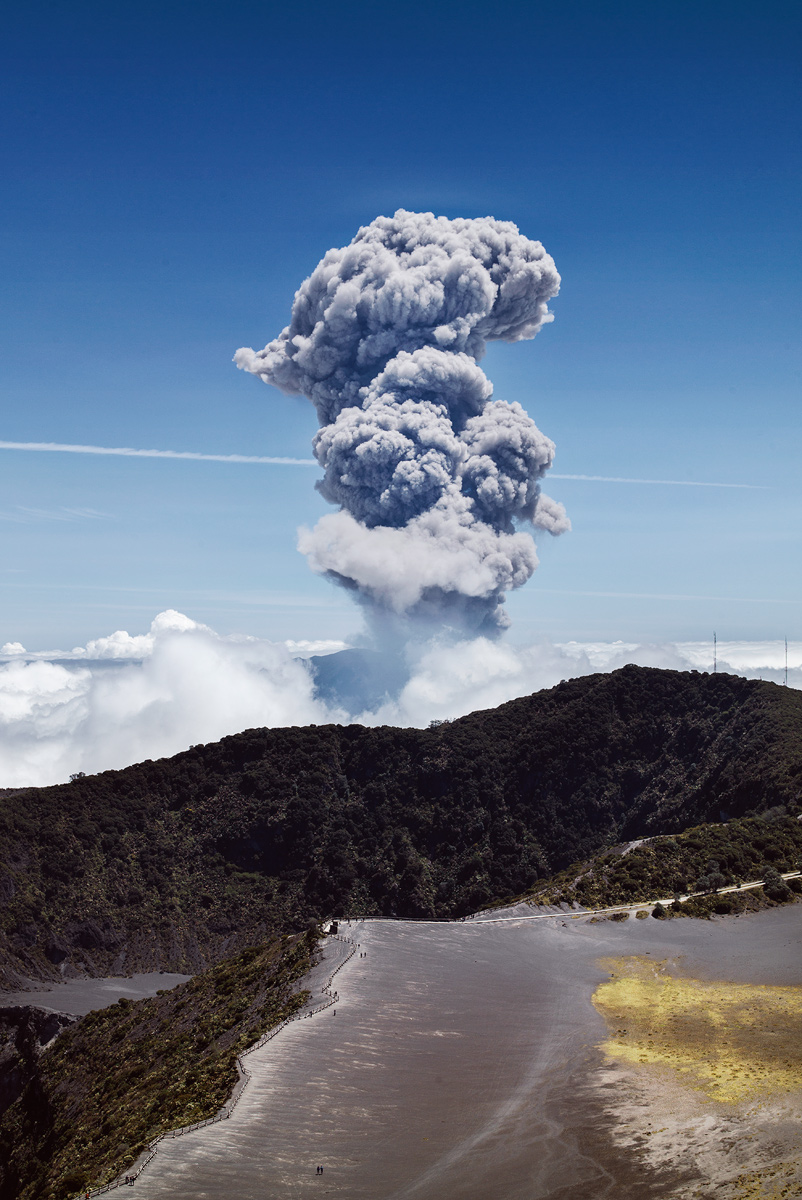 Turrialba volcano eruption, Costa Rica.