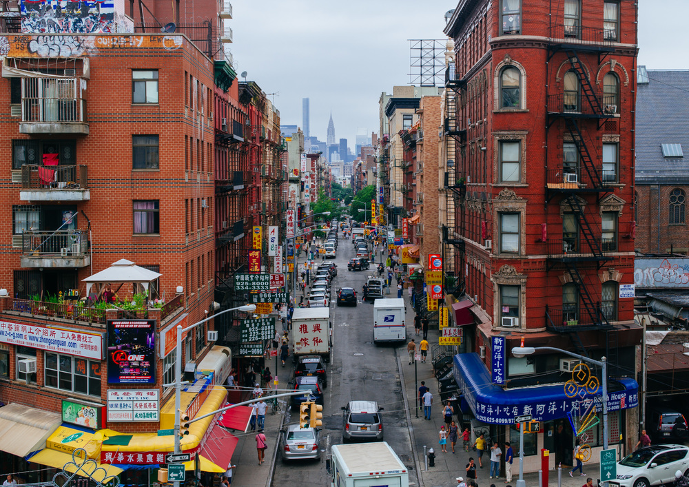 Eldridge St from Manhattan Bridge.