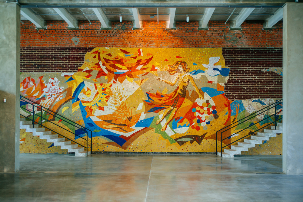 Old mural inside Garage center of contemporary art