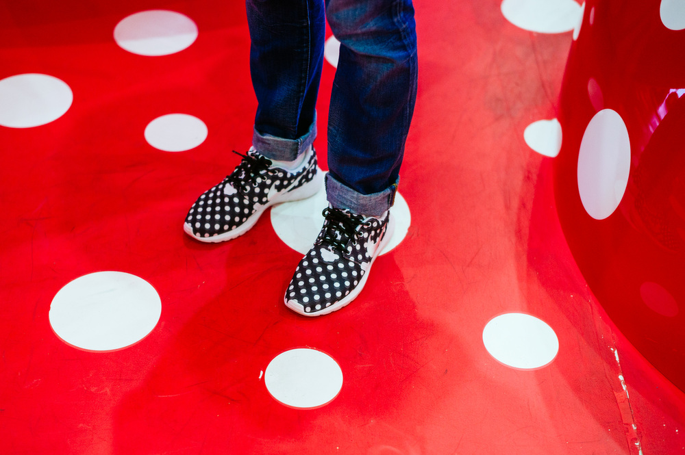My shoes were matching Yayoi Kusama exhibition