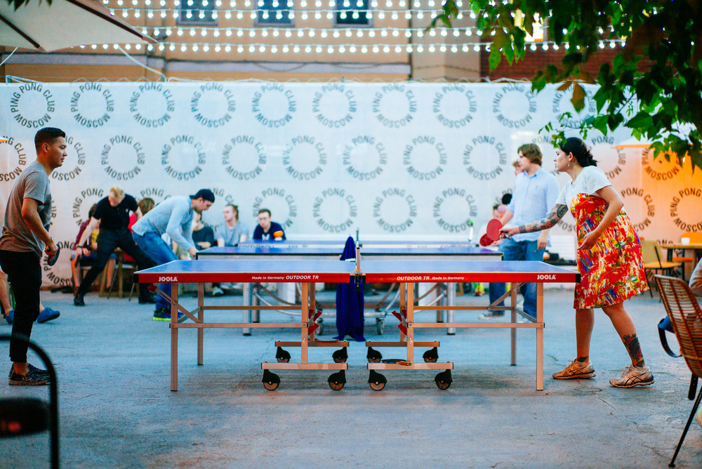 Ping Pong Club Moscow. Somehow Ping Pong is all over Moscow whenever you go, there's a table.