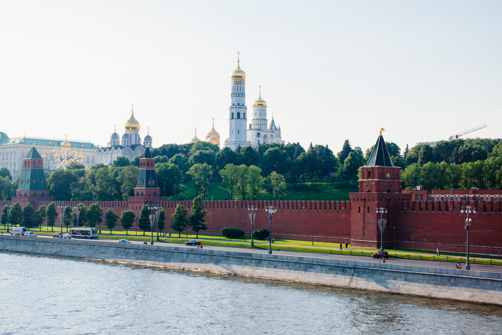 View of Kremlin wall.