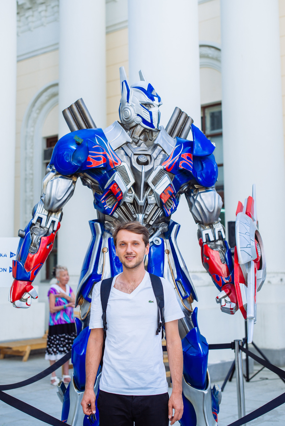 I just had to had a photo with a Transformer. VDNH Park