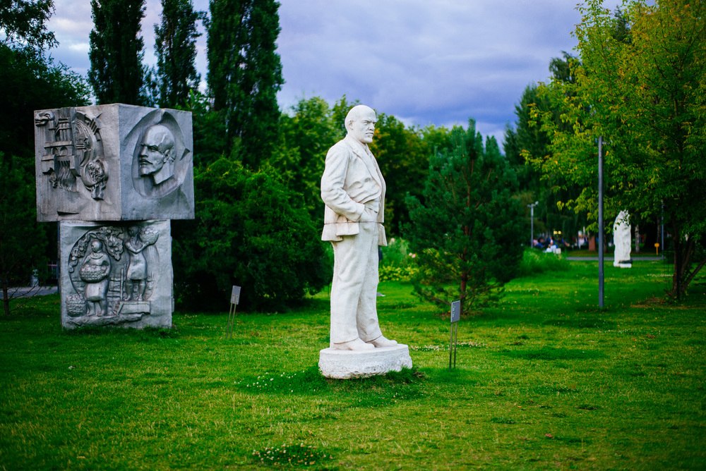 Love this chilled Lenin statue. Muzeon Park of Arts.