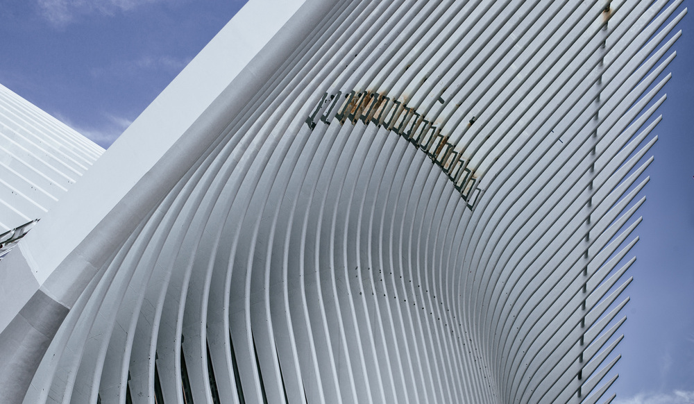 WTC Hub under construction by Santiago Calatrava
