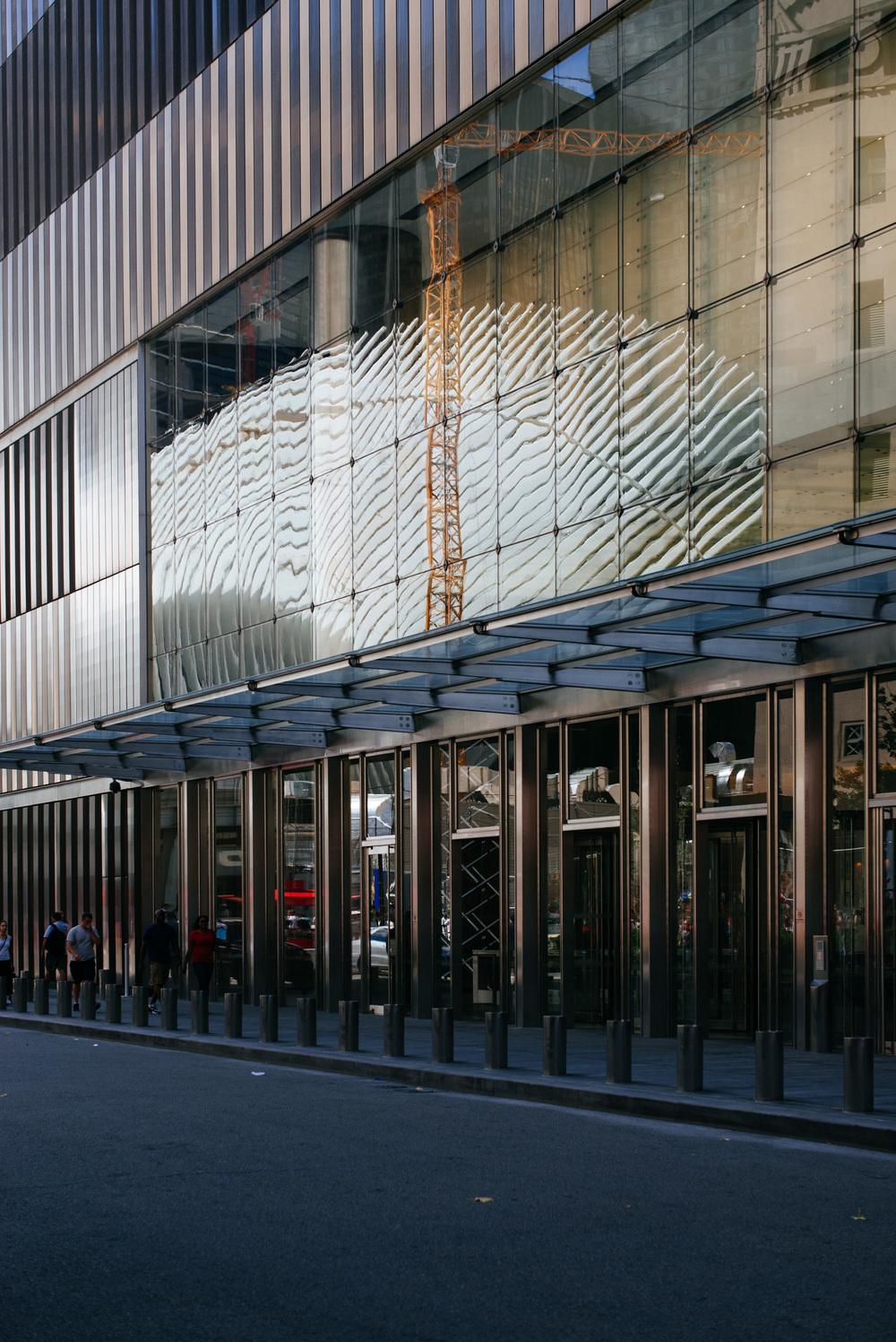 Reflection of Calatrava's building on 7WTC