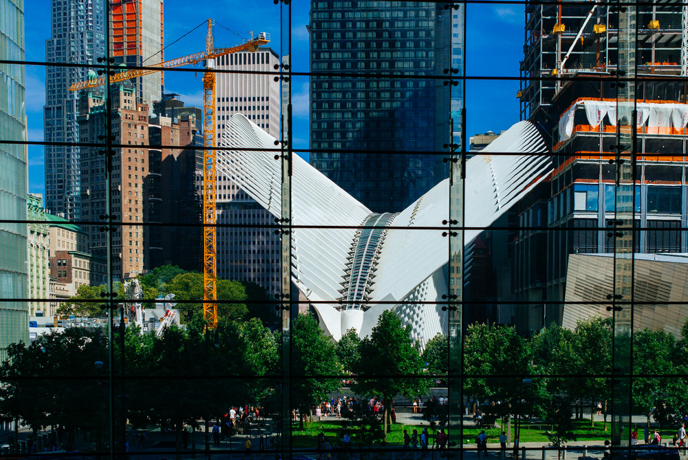 View of Calatrava's WTC Hub from Brookfield Place