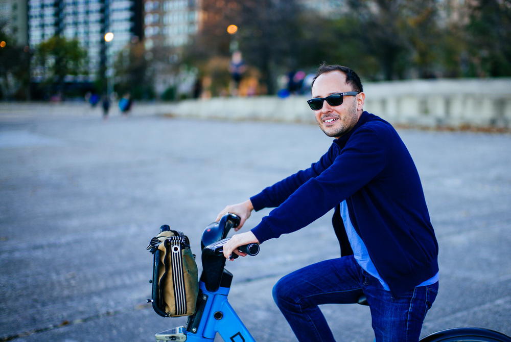 Biking around Chicago with Duarte Elvas form Sarofsky.