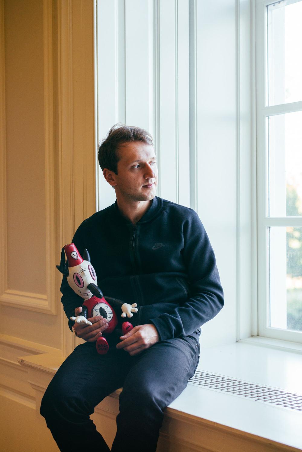 One of the speakers at FORM event was Gary Baseman, I managed to snug his Toby for a portrait.