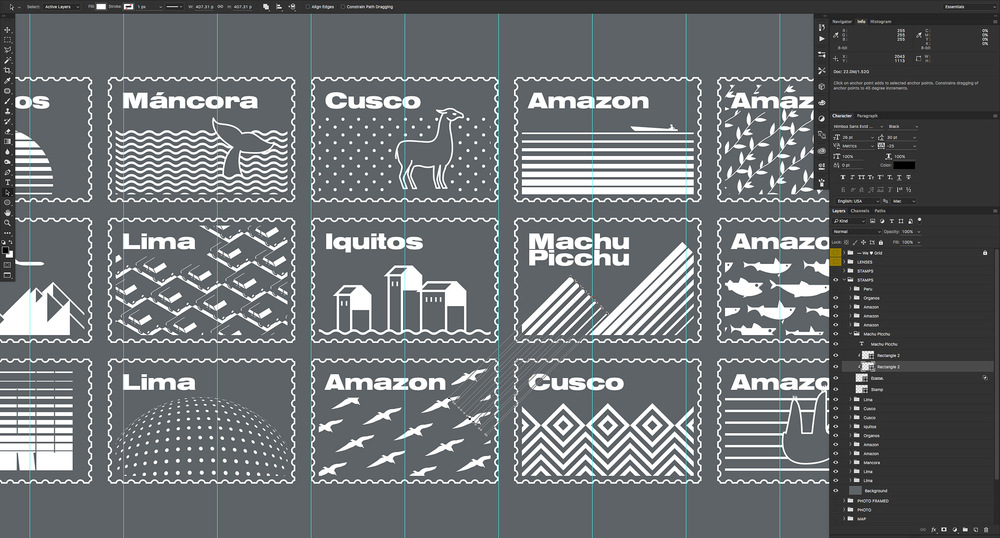 Illustrating stamps in Photoshop