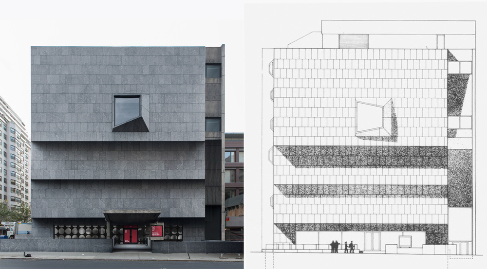 Quick and dirty Photoshop mockup of Breuer Building without any distrotion.
