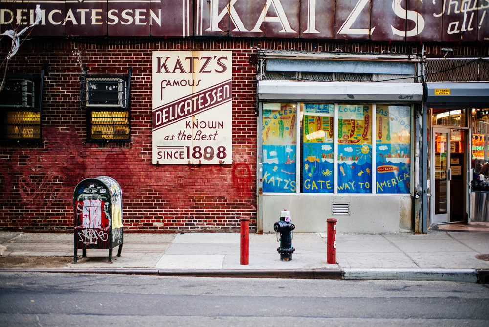 Katz Delicatessen in Lower East Side, New York.