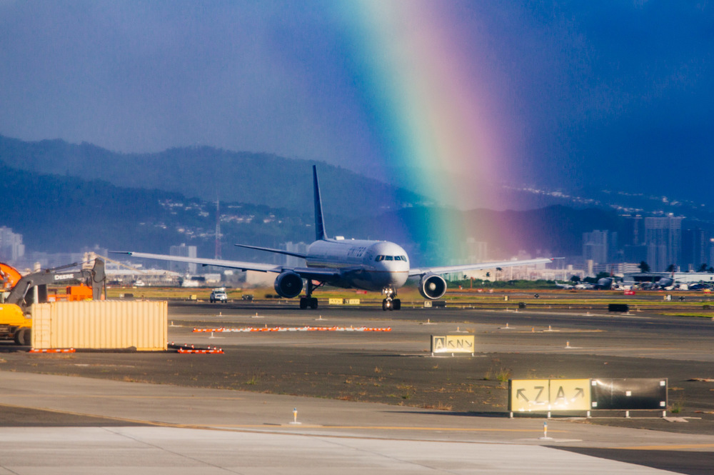 Rainbow in Honolulu Airport