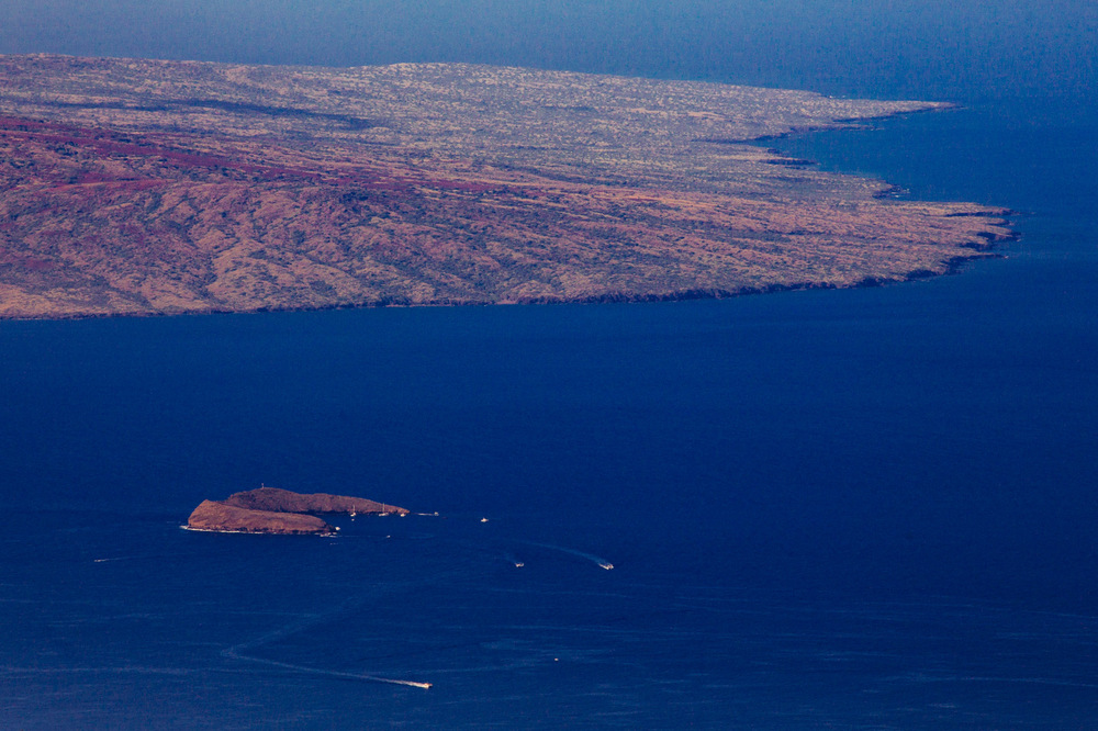 Pretty impressive view of little Molokini Island and Kaho'olawe Island on the background.