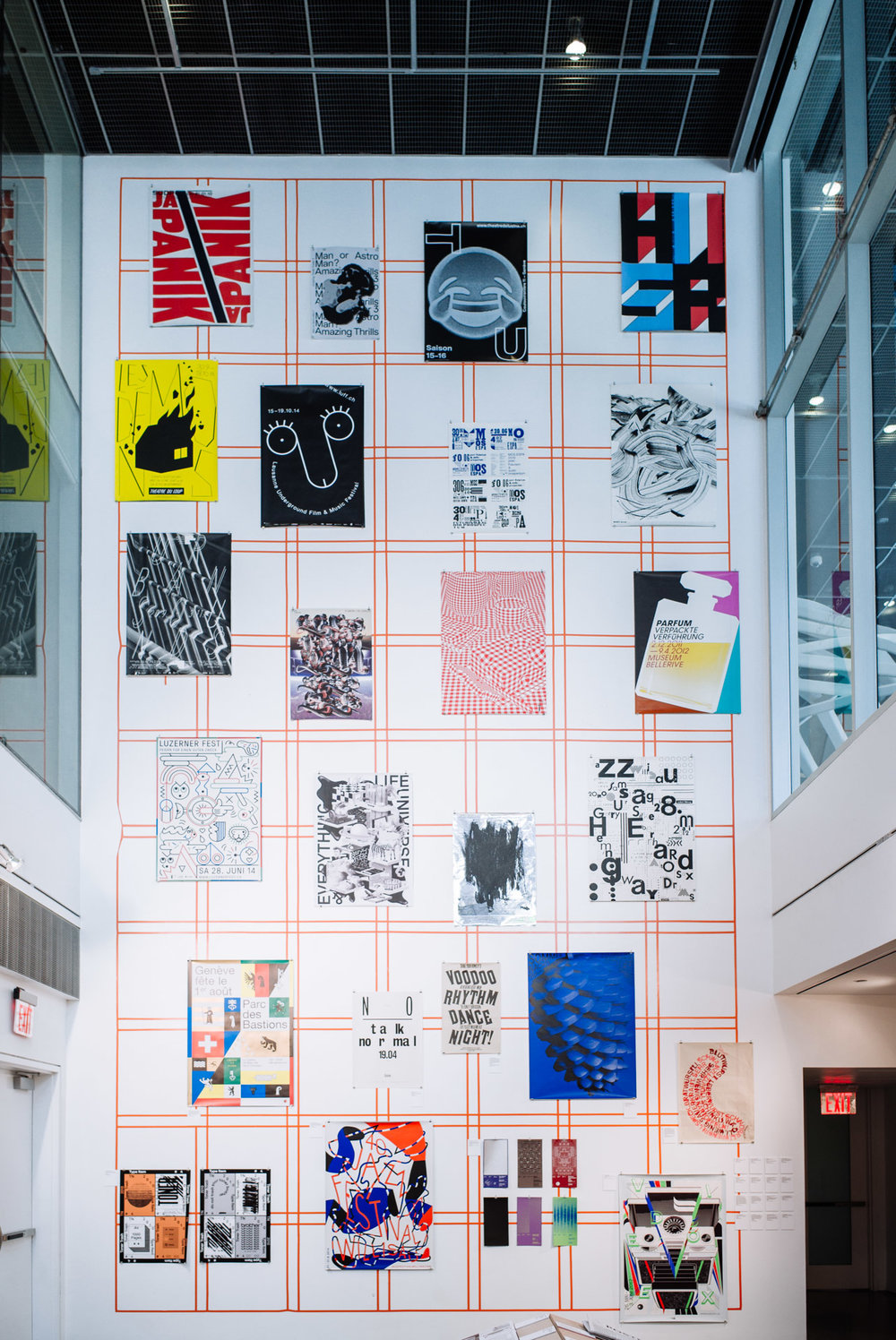 Swiss Design exhibit at Lubalin Center in Cooper Union.