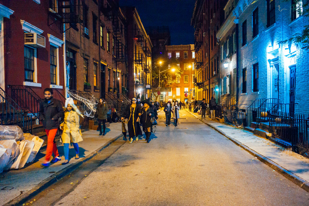 Halloween parade in West Village, New York.