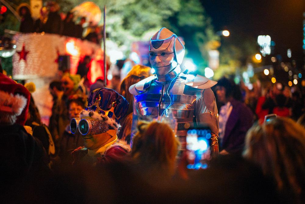 Halloween parade in West Village, New York.