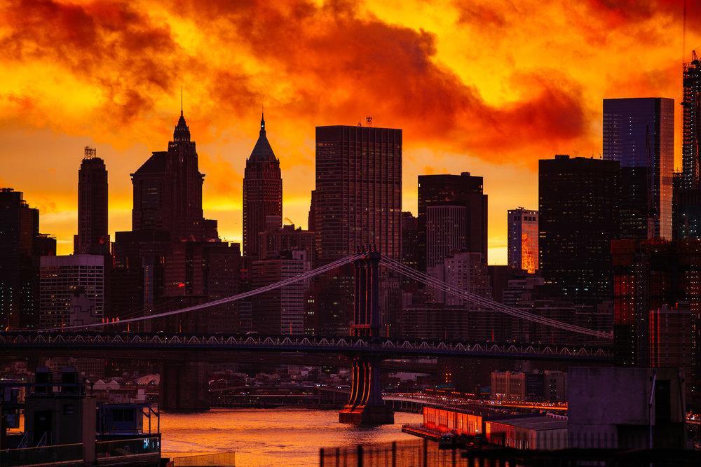 Downtown Manhattan from Williamsburg, Brooklyn