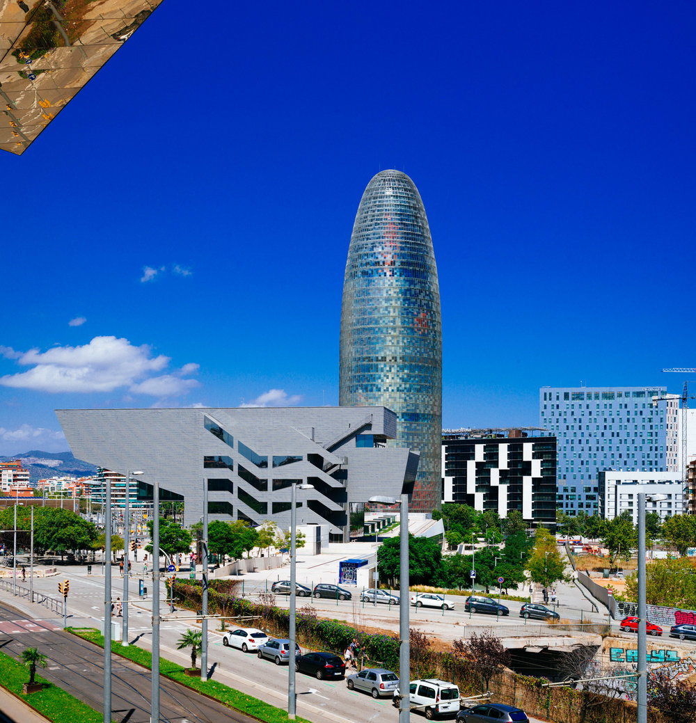 Barcelona Design Museum and Agbar Tower
