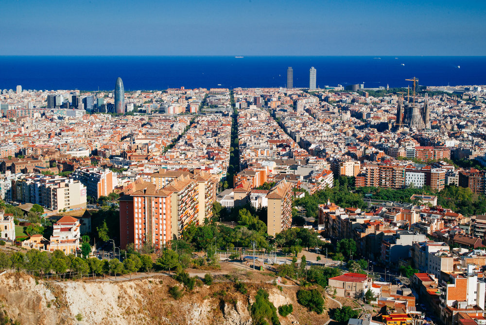 View of Barcelona from Bunkers del Carmel