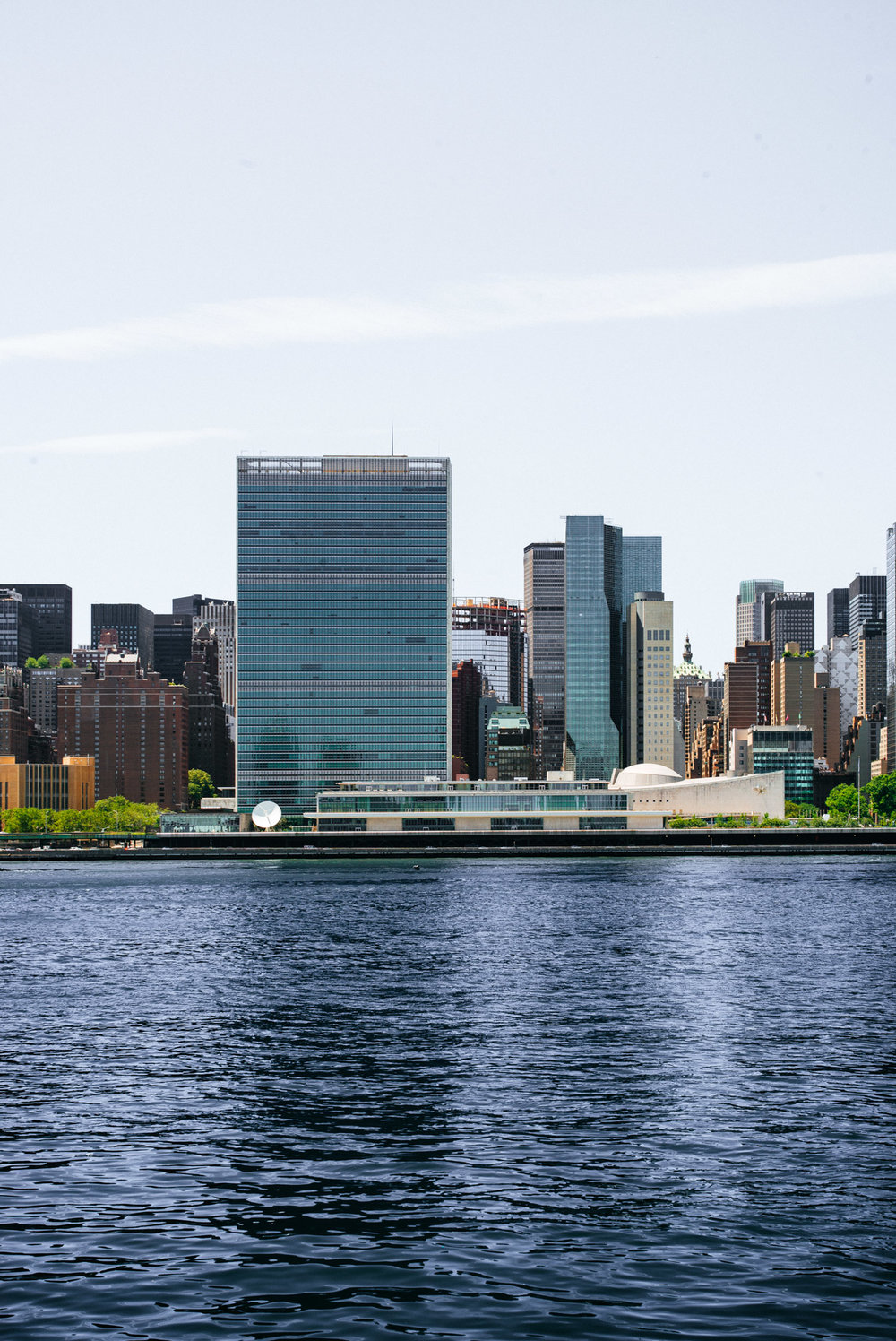 United Nations Headquarters from Long Island City, Queens