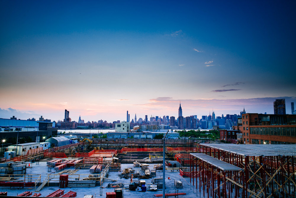 View of Manhattan from The William Vale, Williamsburg, Brooklyn