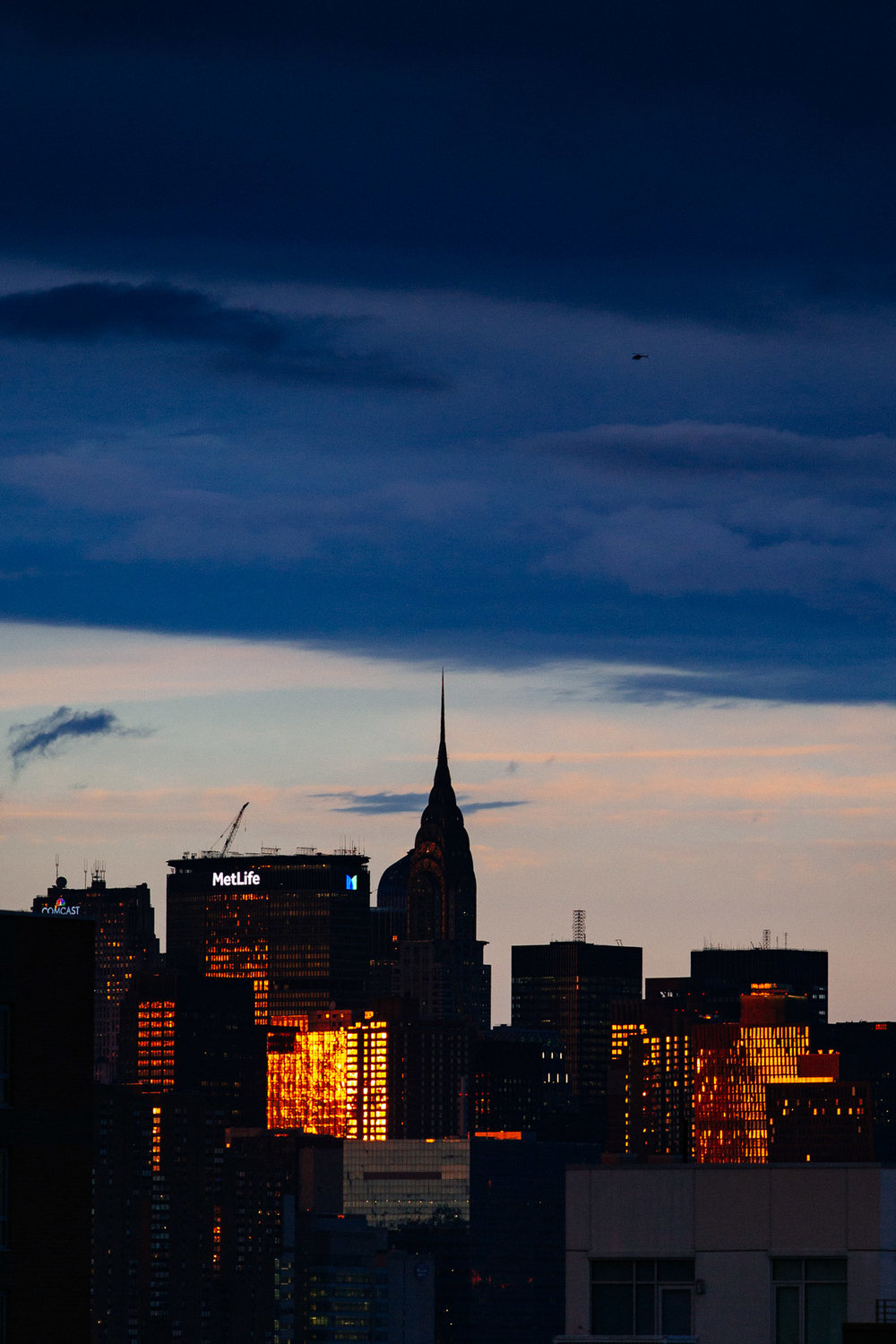 MetLife building and Chrysler Building from Brooklyn