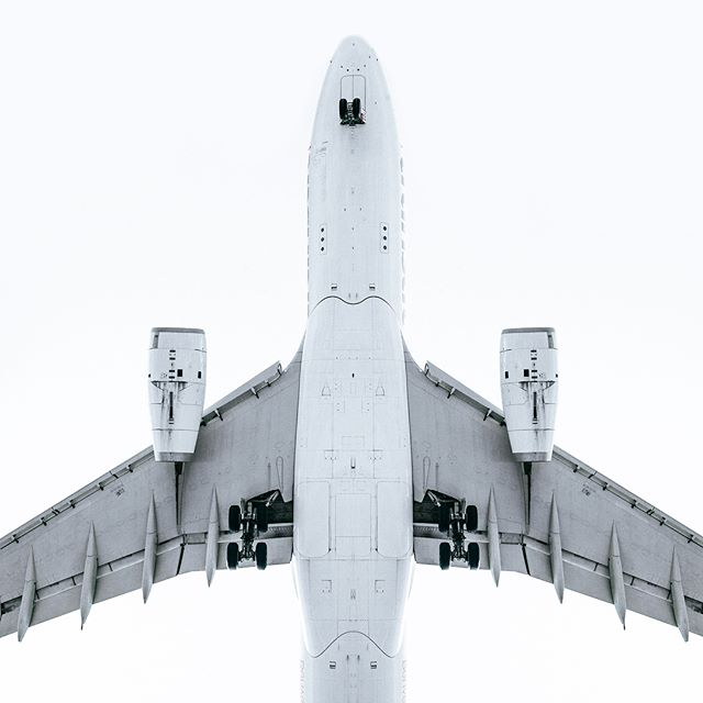Landing strip of Barcelona El Prat airport.