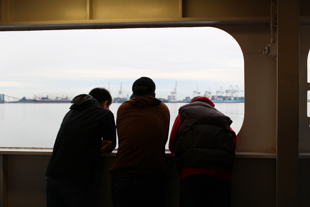 Three fighters on a ferry.jpg