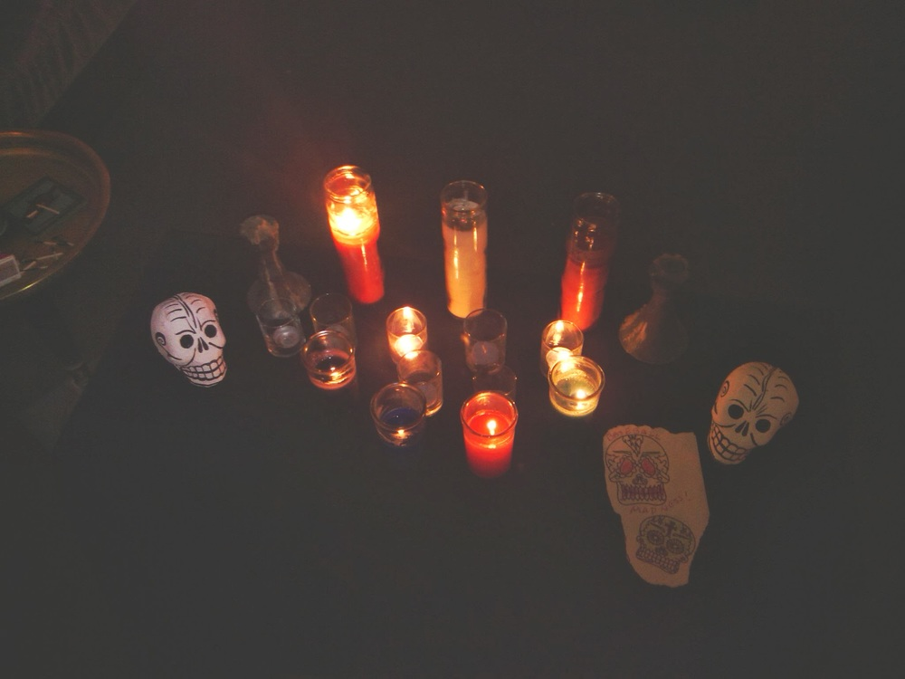 On Samhain, candles were lit for the dear departed..A full feast was shared with them as well....