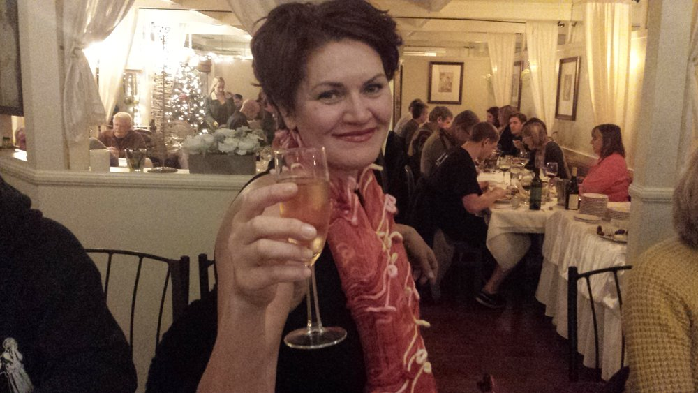 Lynda at our 2015 Christmas Dinner
