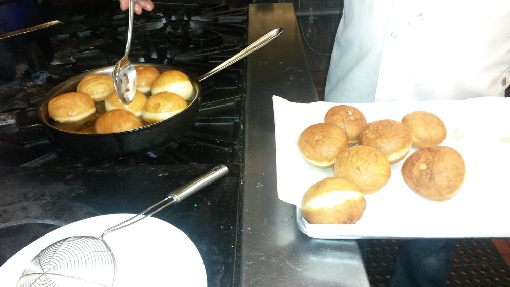 Festival of the Lights - Oil was burned by the Menorah lamp - symbolically represented here by Sufganiyot & Latkes! Yummy!