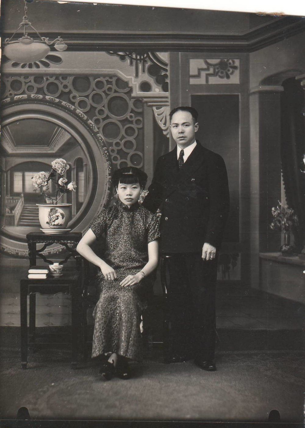 Harry Fong and Alice Fong - wedding photo. Courtesy Katheryn Fong
