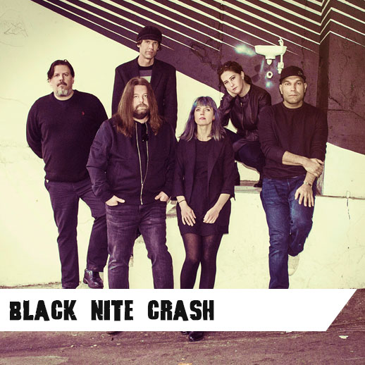 Black Nite Crash is reverb-drenched fuzz pop, a mix of atmosphere and energy, focusing on themes that haunt dreams... girls, gods, and altered states. Strong songcraft and dark moods meet with nods to Sixties Psych, Post-Punk, Shoegaze, and Brit Pop.   Melody, Noise and the Beat. Yeah.   L  ike them here   or  listen here , or  available to purchase