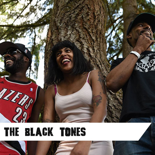 A goody bag of BLUES, PUNK and BLACK POWER! - Simply put...The Black Tones are like a mixture of Kurt Cobain and cornbread. Consisting of founders/twin siblings Eva Walker on guitar/vocals, Cedric Walker on drums, and Robbie Little on the bass.   www.theblacktones.com    Listen Here  or   Watch Here