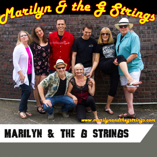 "Kirkland's own original ukulele rock band are in the house! Known for their motto ""wine drinkers with a ukulele problem"", Marilyn & the G Strings will get you ""boogieing your sneakers away"" with their eclectic repertoire of old and new tunes you've never heard performed on ukuleles before.   www.marilynandthegstrings.com   Find  them on Facebook,  or  watch them here"