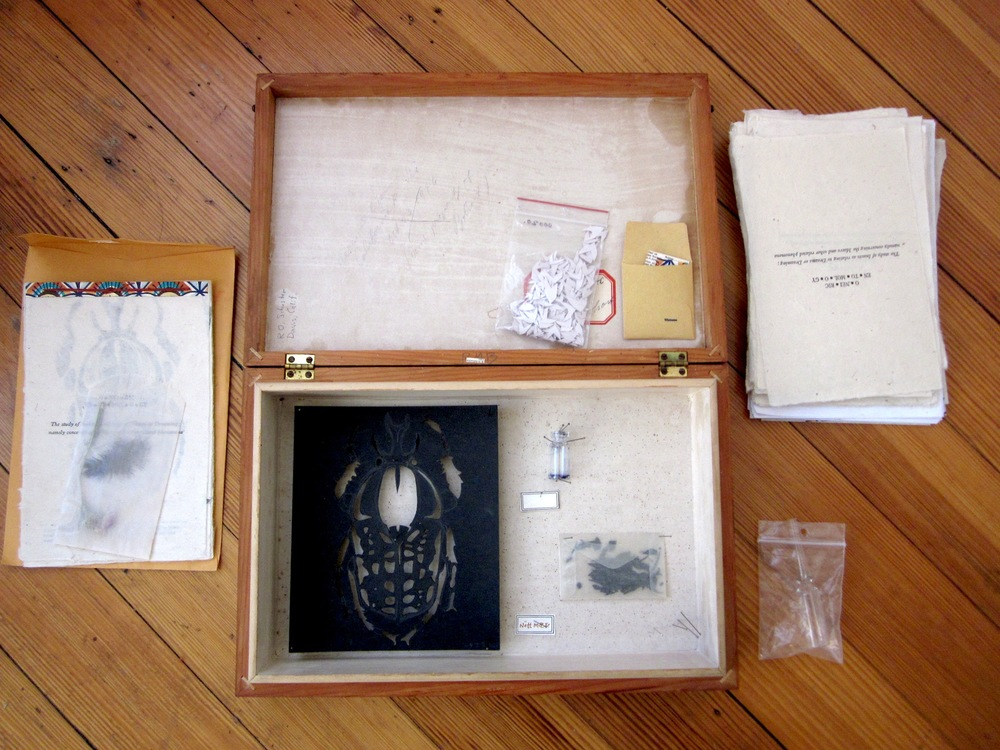 """The Study of the Mære"" a letter-pressed artist book & collected objects"
